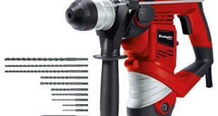 Einhell Bohrhammer TC RH 900 Kit 900 W 4100 min 1 Schlagzahl 310x165 - Einhell Bohrhammer TC-RH 900 Kit (900 W, 4100 min.-1 Schlagzahl, 3 J Schlagstärke, Hammerbohren, Bohren und Meißeln mit Meißelfixierung, inkl. 12-teiligem Bohrer- & Meißelset, Koffer)